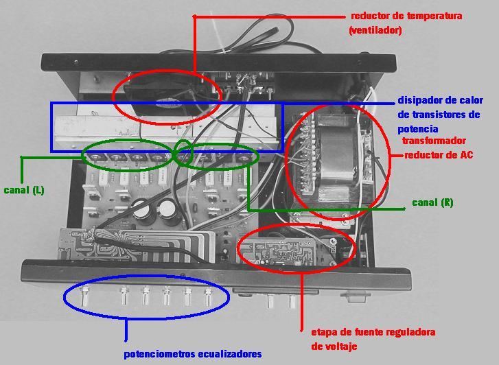 Partes amplificador de audio