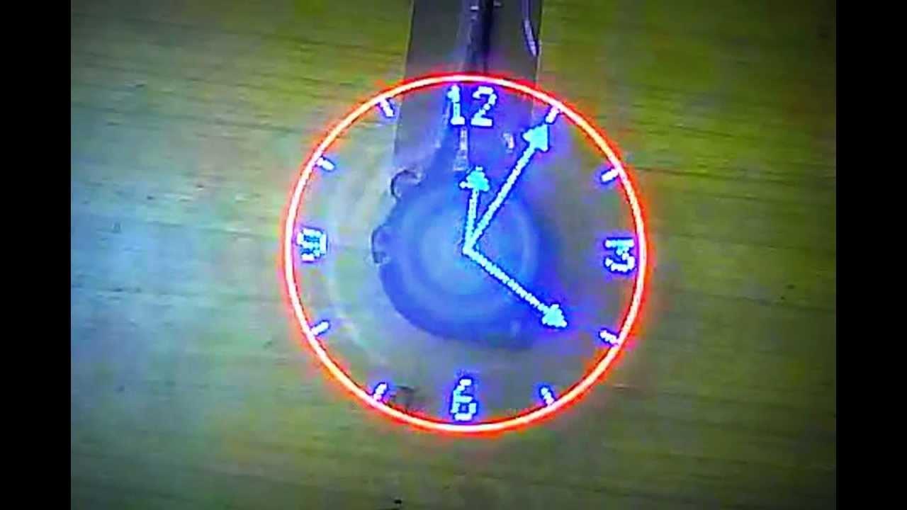 Reloj girador led