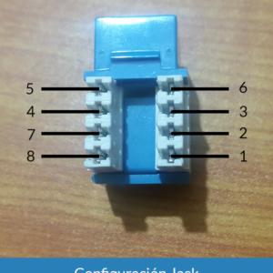 Configuración conector cat5e hembra